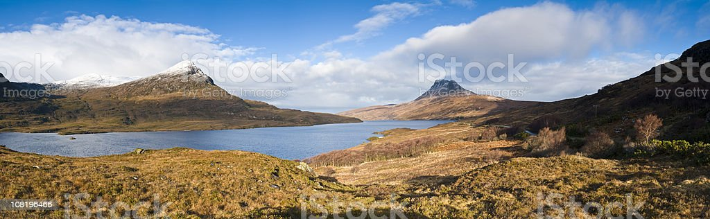 Scottish wilderness vista stock photo