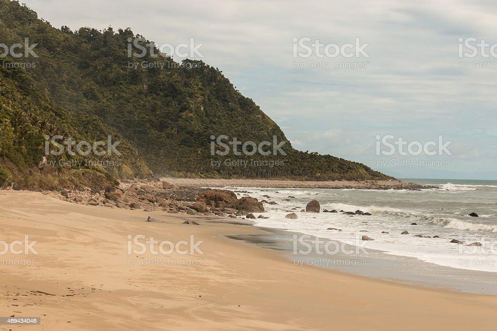 Scotts beach on Heaphy track in Kahurangi National Park stock photo