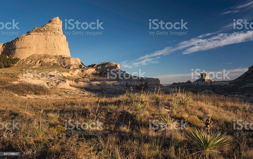 Scotts Bluff National Monument stock photo