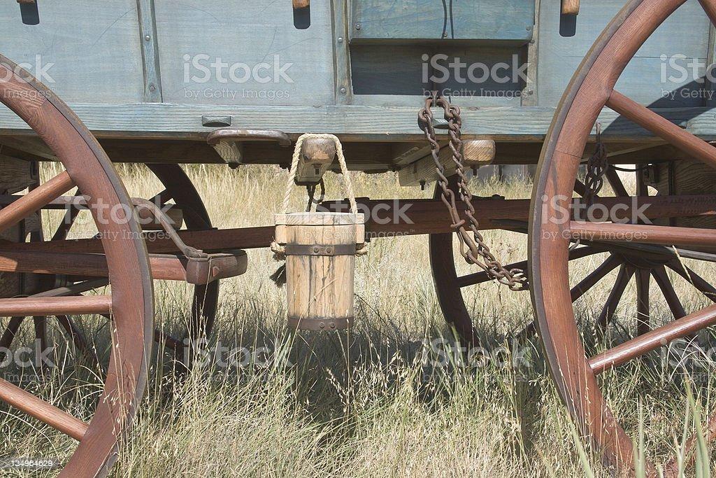 Scotts Bluff Wagon royalty-free stock photo