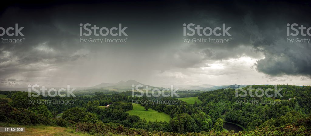 Scotts View, Melrose, Scottish Borders, UK royalty-free stock photo