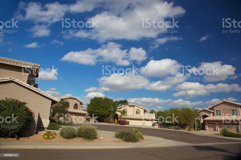Scottsdale Arizona Home Cul de Sac royalty-free stock photo