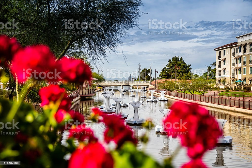 Scottsdale Canal stock photo
