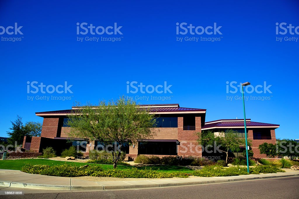 Scottsdale North Phoenix Office Buildings and Desert Landscaping royalty-free stock photo