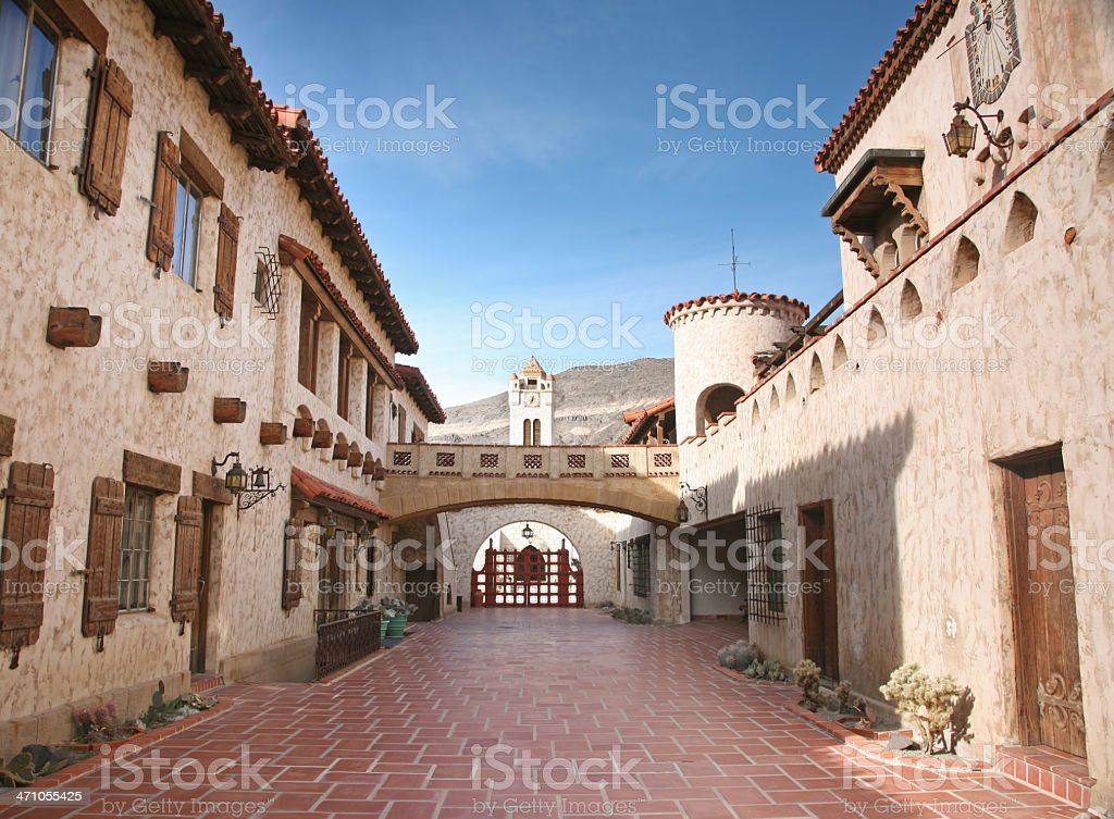 Scotty's Castle, Death Valley royalty-free stock photo