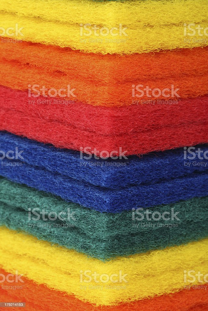 Scouring pad background stock photo