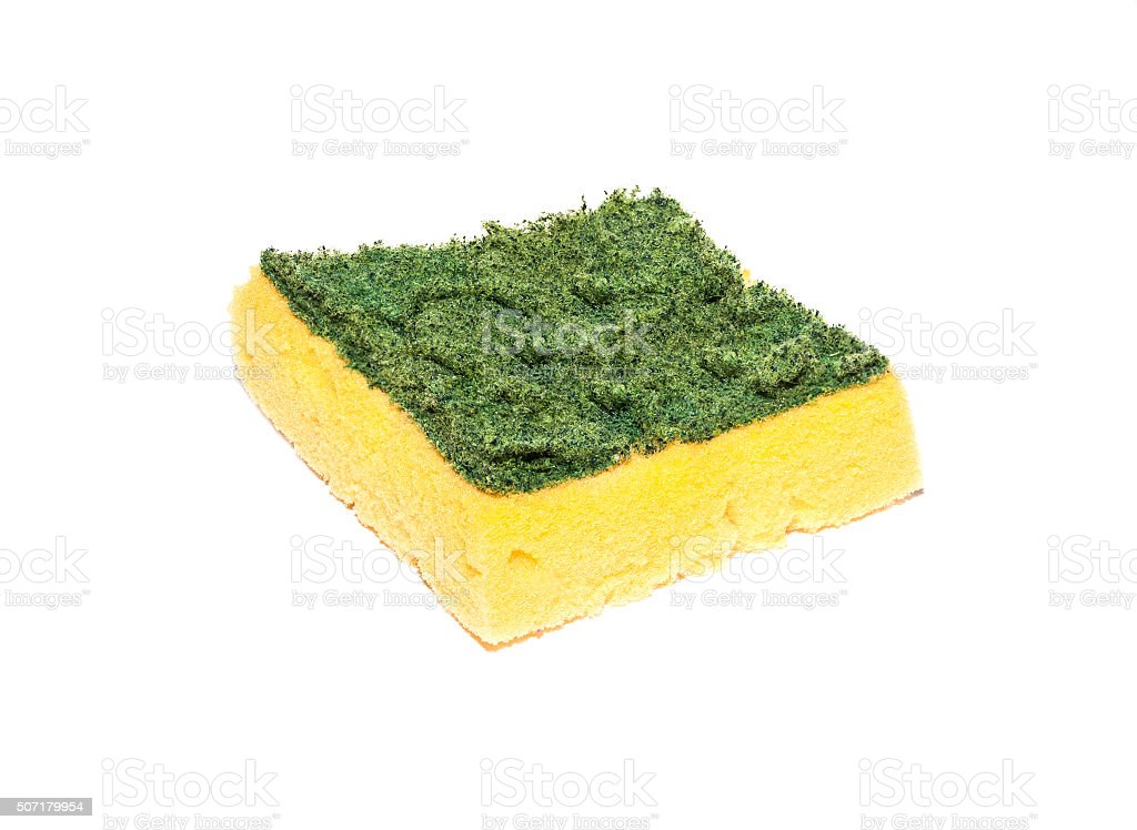 Scouring pads on white stock photo