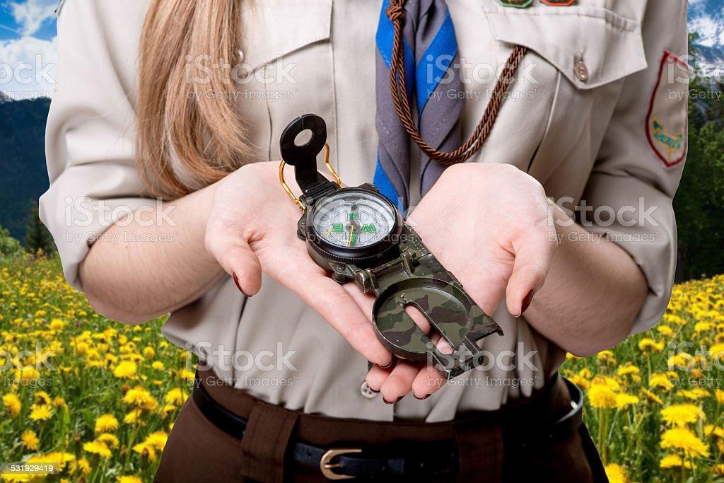 Scout tour stock photo