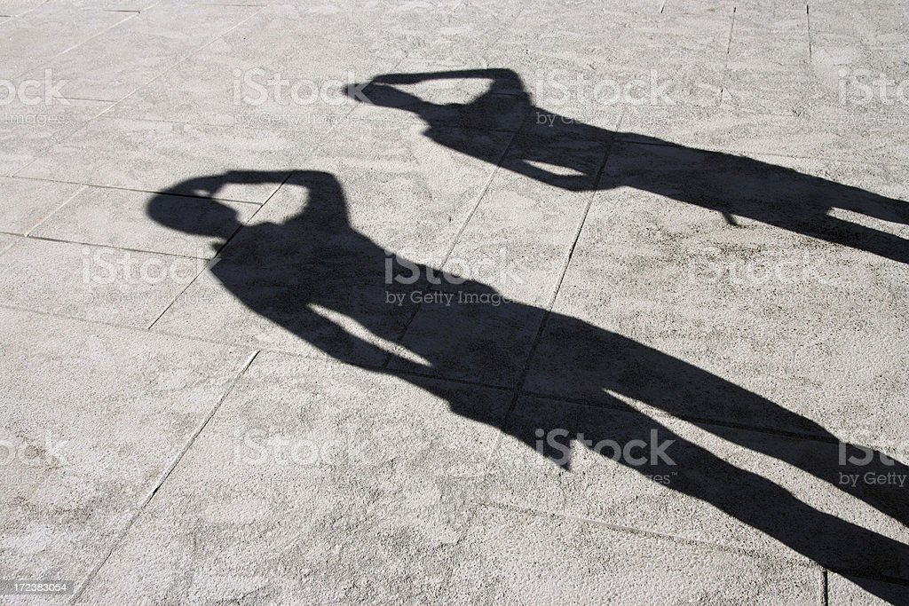 scouting shadows royalty-free stock photo