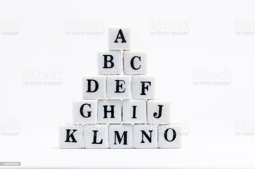 scrabble blocks of alphabets stock photo
