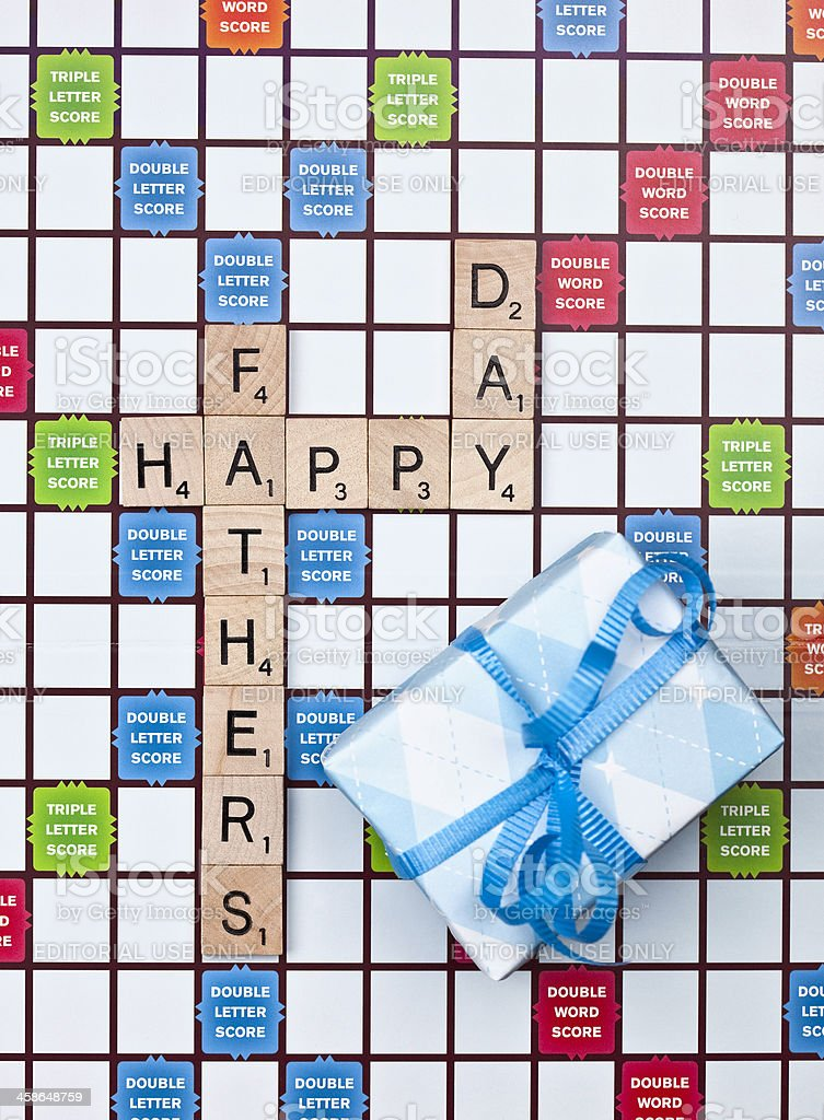 Scrabble Father's Day Message stock photo