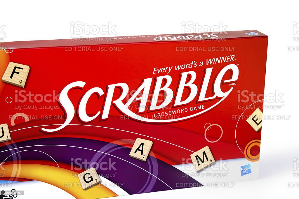 Scrabble game box by Hasbro royalty-free stock photo