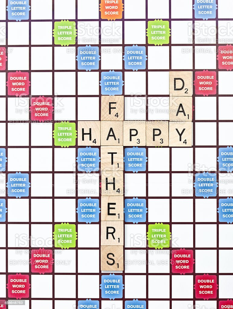 Scrabble Happy Father's Day Message royalty-free stock photo