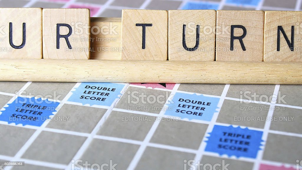 Scrabble Letters royalty-free stock photo