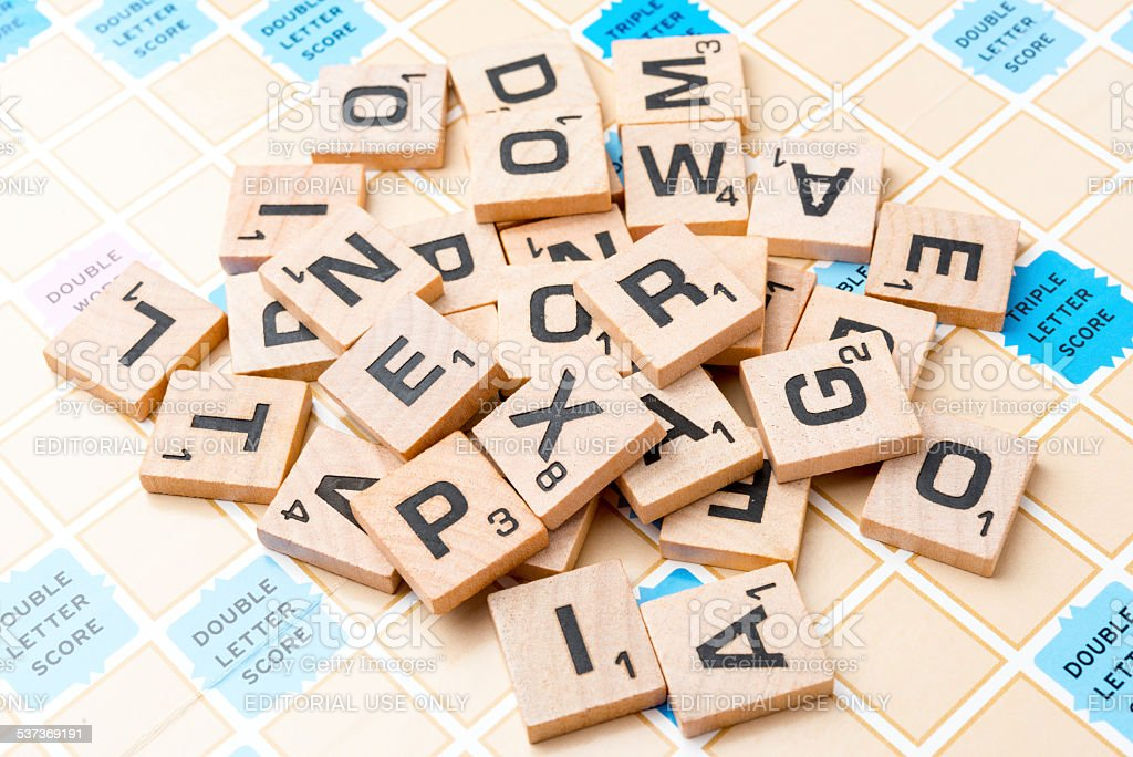Scrabble Letters stock photo