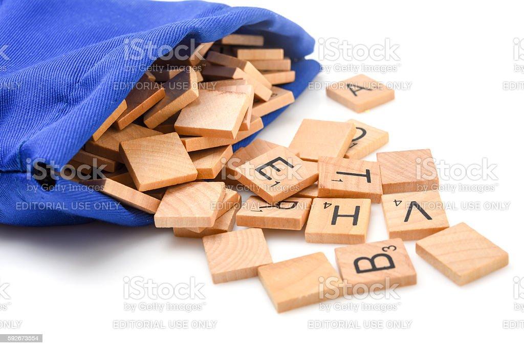 Scrabble Letters stock photo