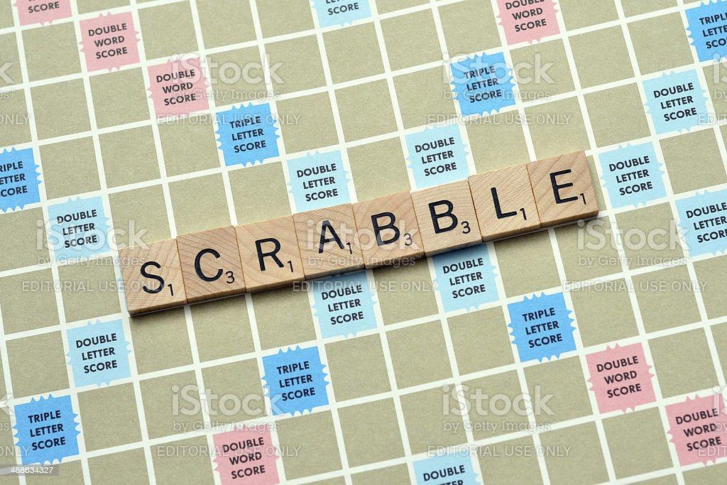 Scrabble stock photo