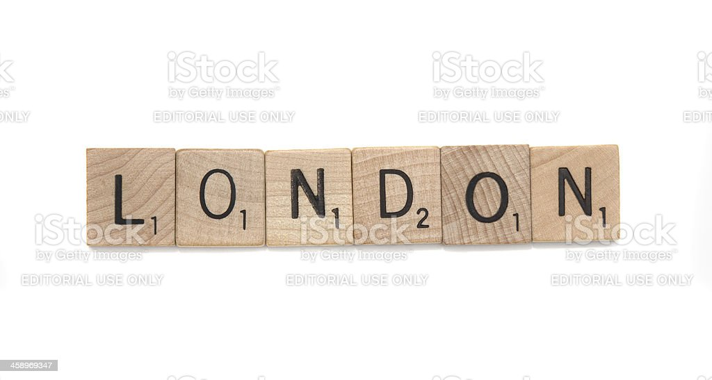 Scrabble tiles spelling London royalty-free stock photo