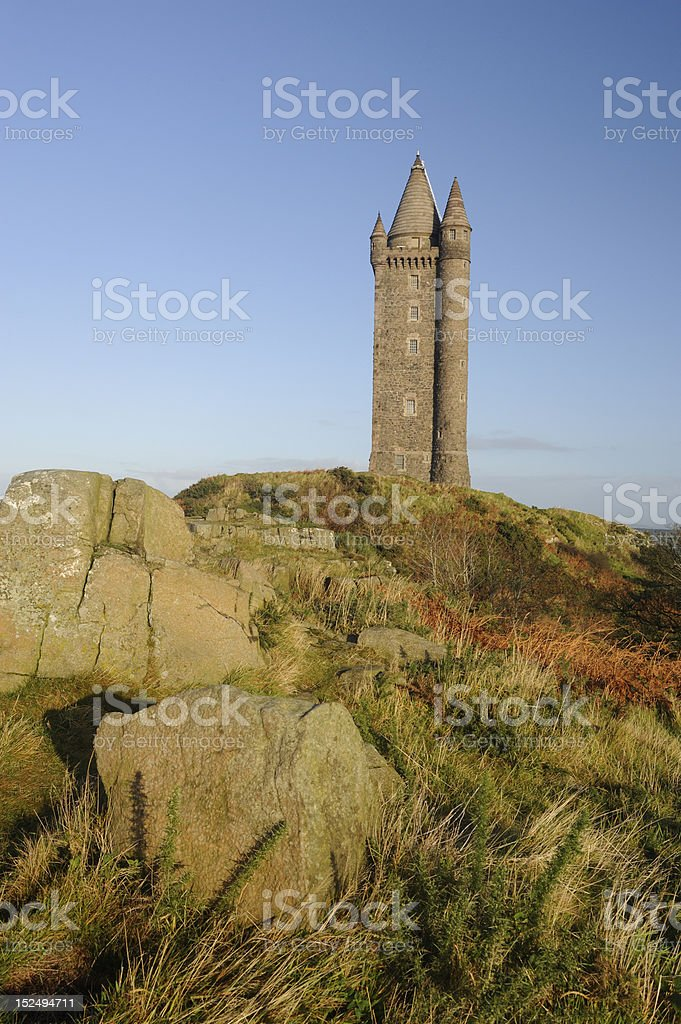 Scrabo Tower, Co Down stock photo