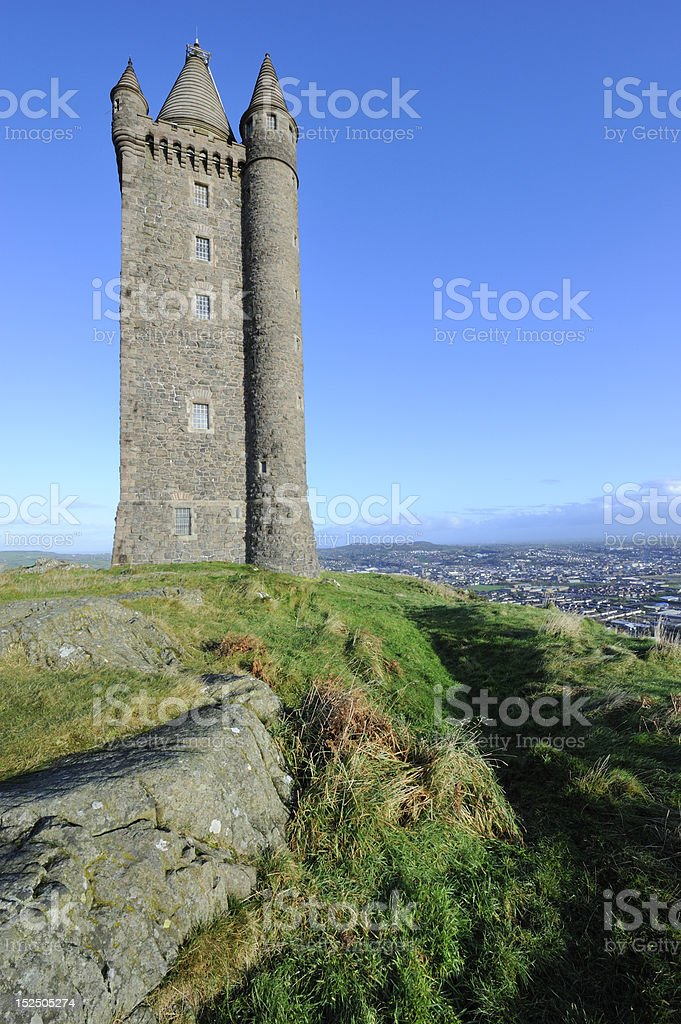 Scrabo Tower, Northern Ireland stock photo