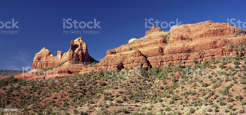'Scraggly Red Rock, Sedona, Arizona, United States' stock photo