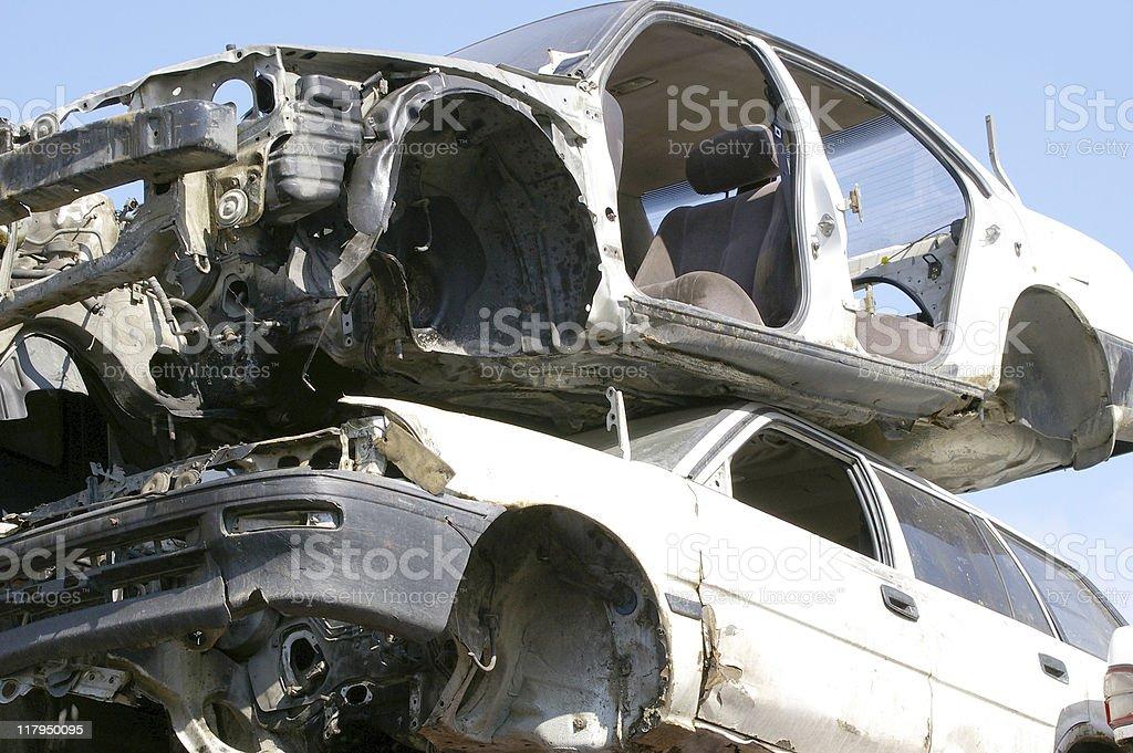 Scramble of the cars royalty-free stock photo