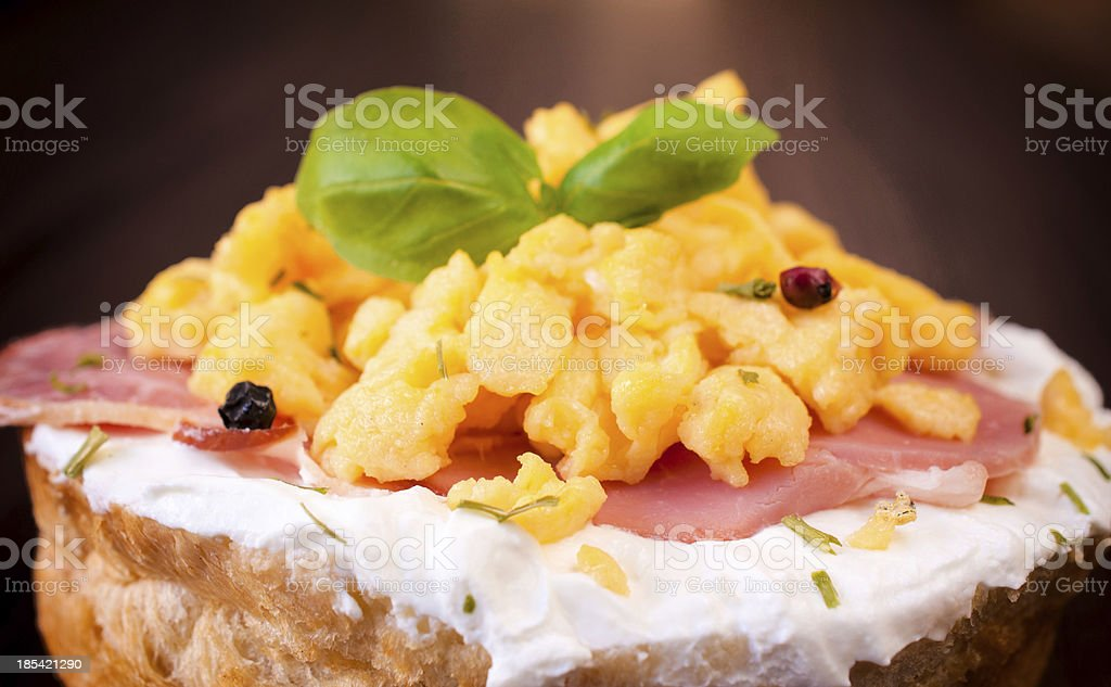 Scrambled egg royalty-free stock photo