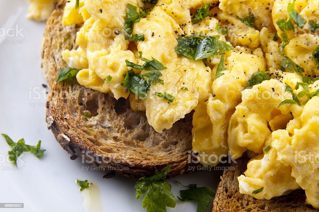 scrambled egg stock photo