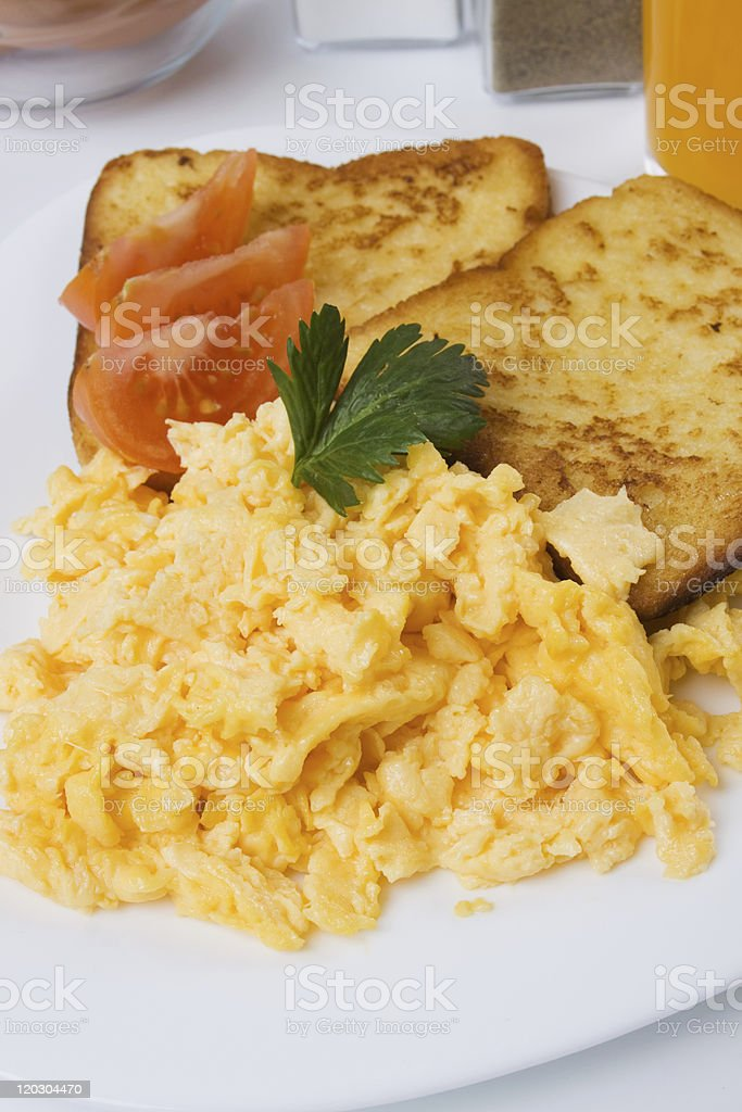 Scrambled eggs royalty-free stock photo