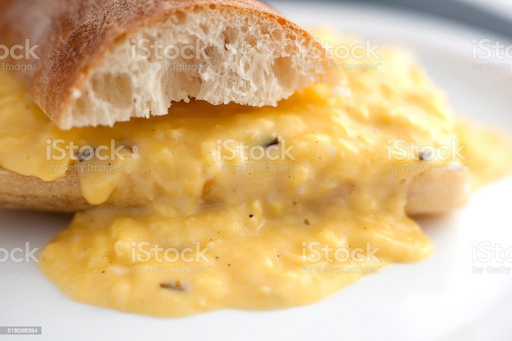 Scrambled eggs royalty-free stock photo