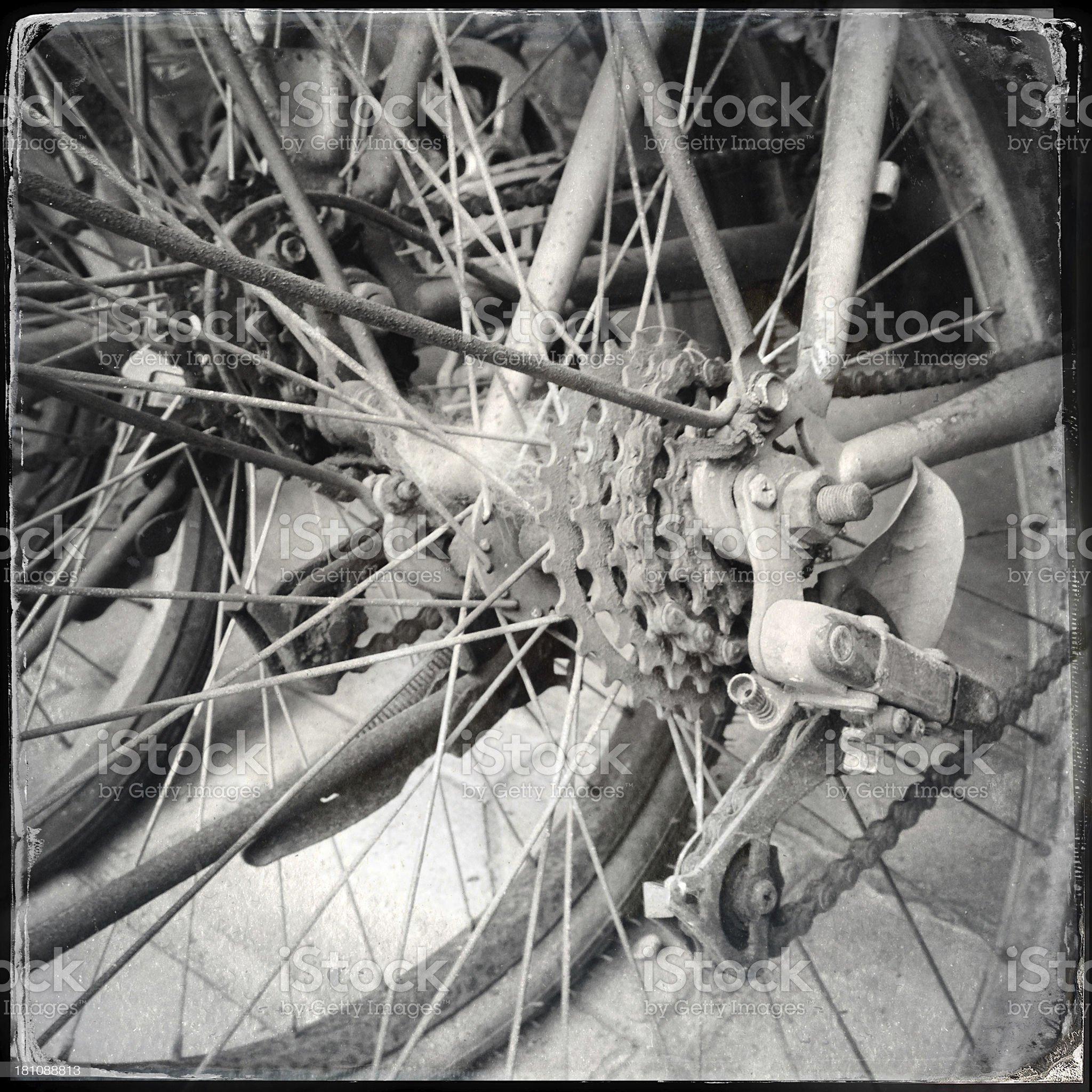 Scrap bike royalty-free stock photo