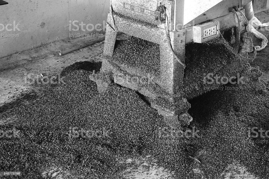 scrap black plastic stock photo