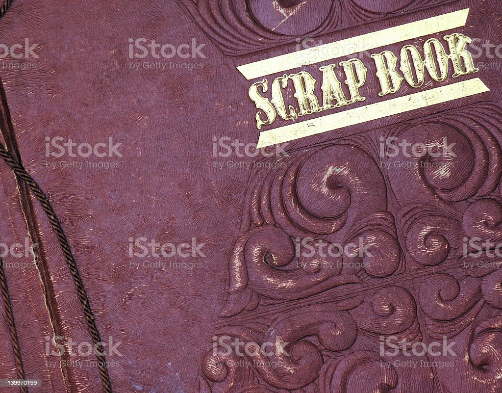 scrap book stock photo