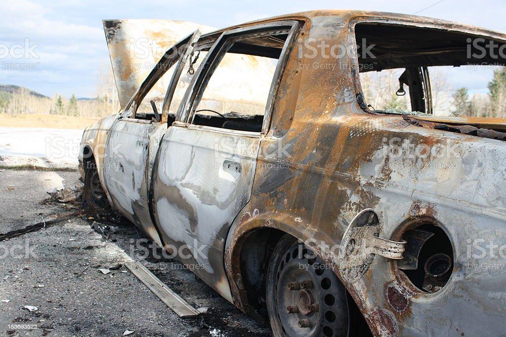 Scrap Car stock photo