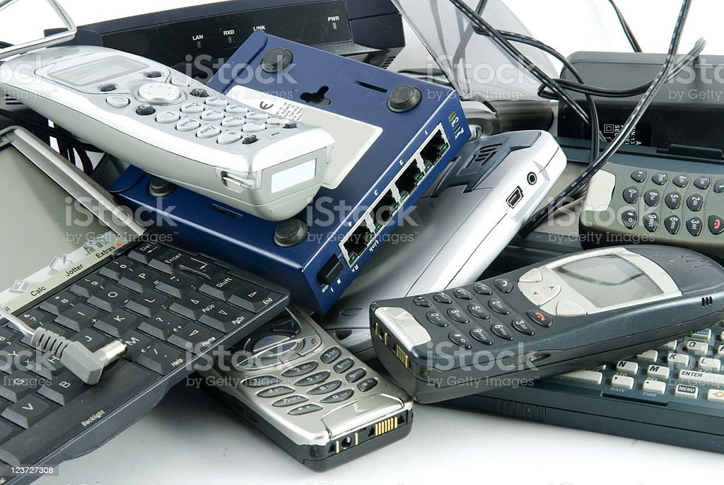 Scrap Electrical goods royalty-free stock photo