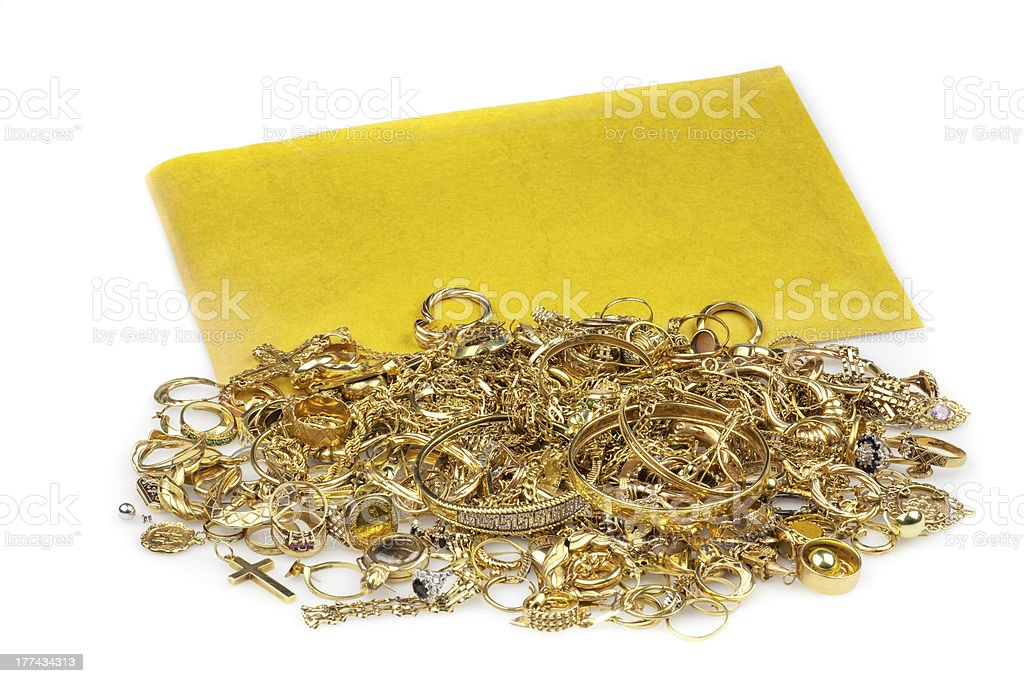 Scrap Gold and Envelope stock photo