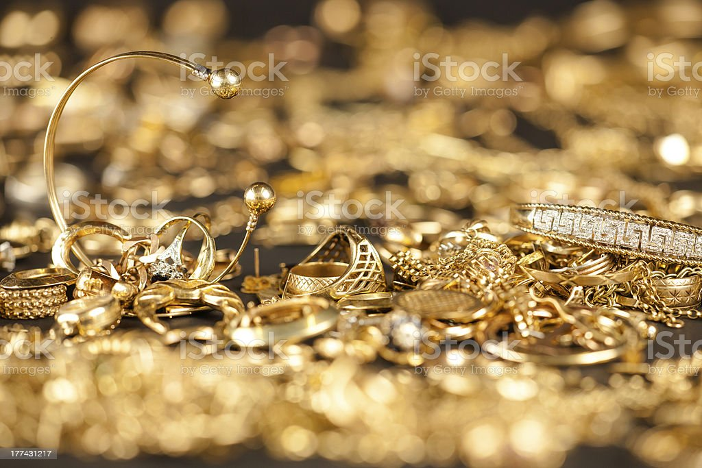 Scrap Gold Collection royalty-free stock photo