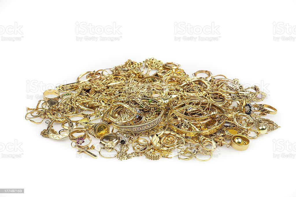 Scrap Gold Collection stock photo