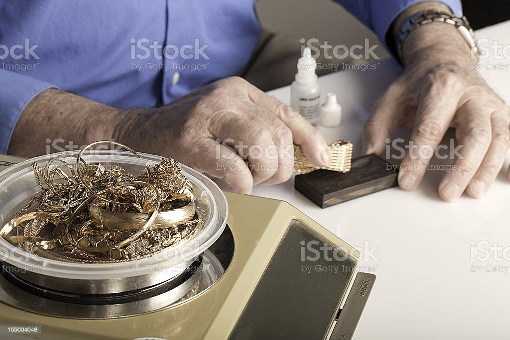 scrap gold stock photo