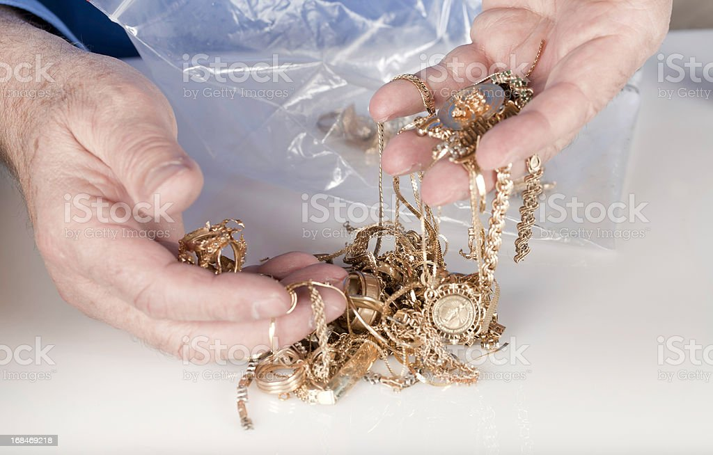 scrap gold royalty-free stock photo