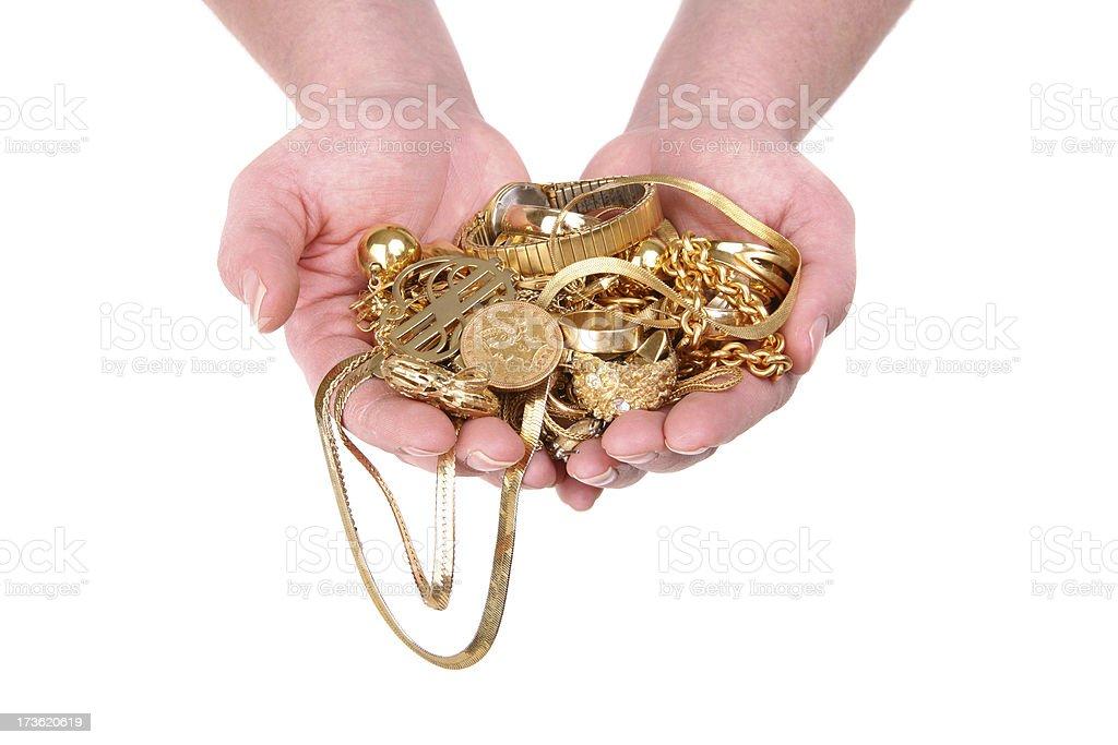 Scrap Gold royalty-free stock photo