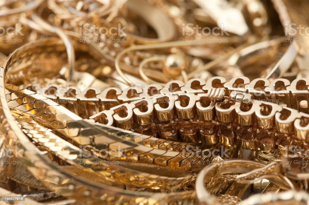 Scrap Gold Pile Background stock photo