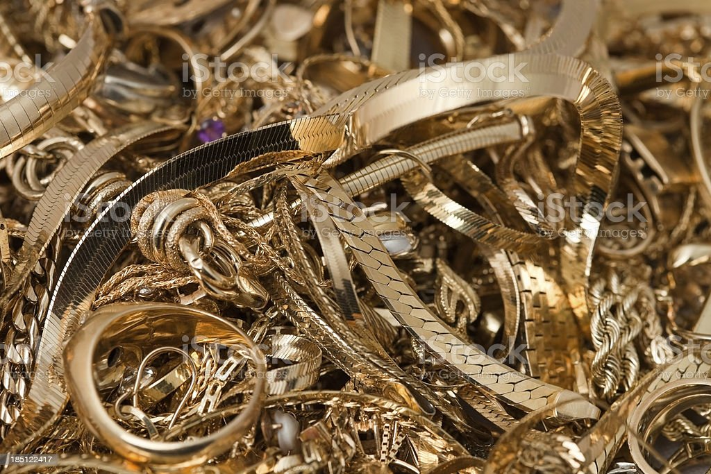 Scrap Gold Pile royalty-free stock photo