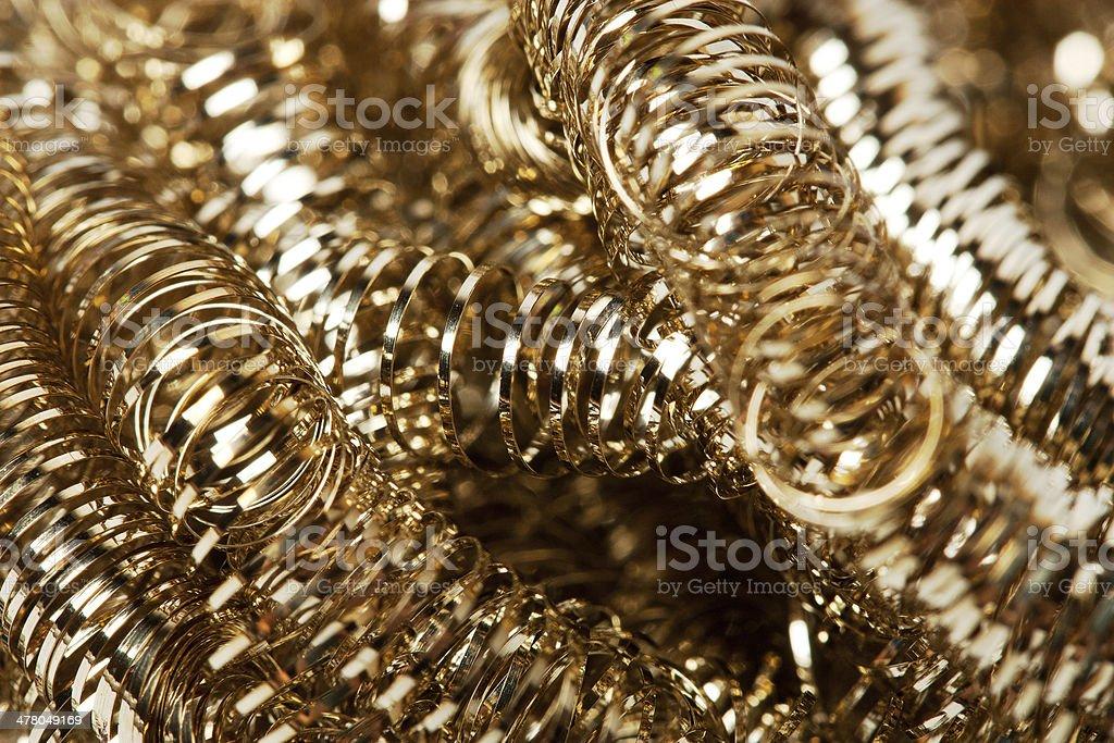 Scrap gold Shavings royalty-free stock photo