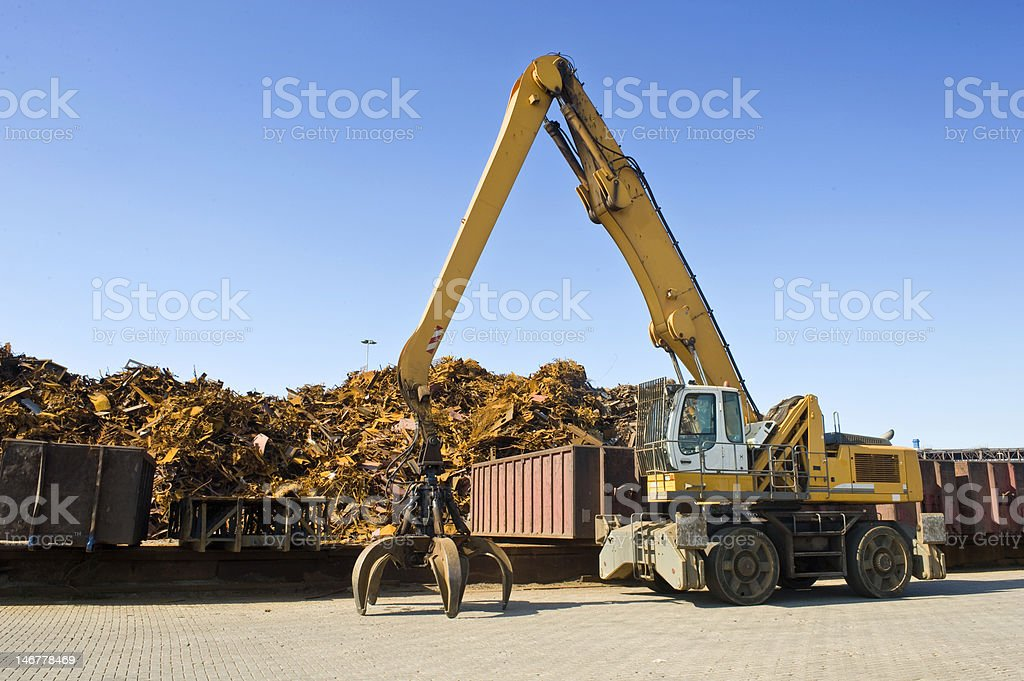 Scrap Heap Crane royalty-free stock photo
