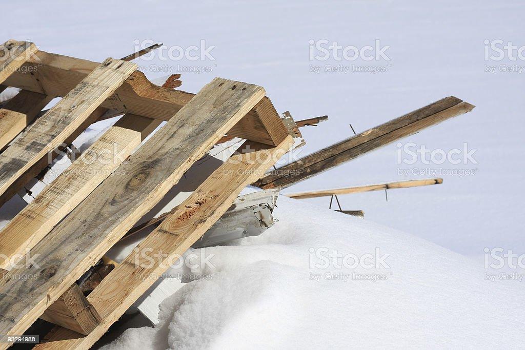 Scrap Lumber stock photo