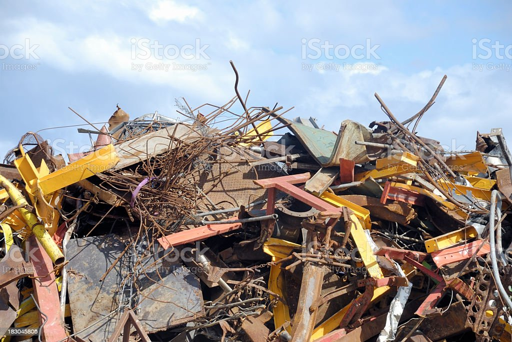 Scrap metal against the sky royalty-free stock photo