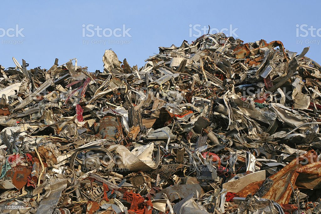 Scrap metal and iron # 1 royalty-free stock photo