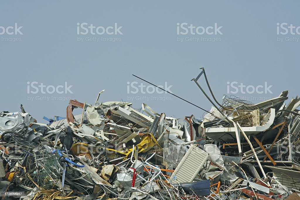 Scrap metal and iron # 18 royalty-free stock photo