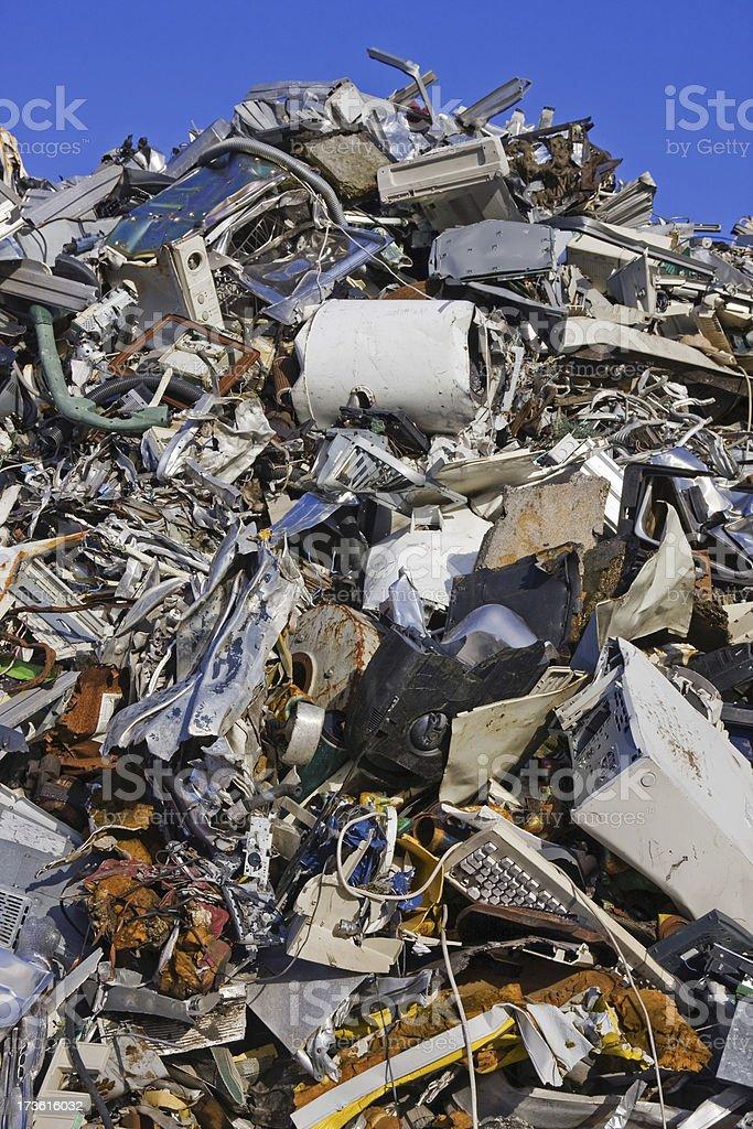 Scrap metal and iron # 22 XL royalty-free stock photo